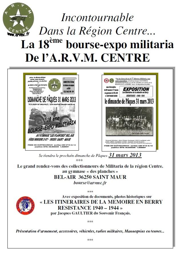 18eme bourse aux armes militaria du club arvmc saint for Vive le jardin 36250 saint maur