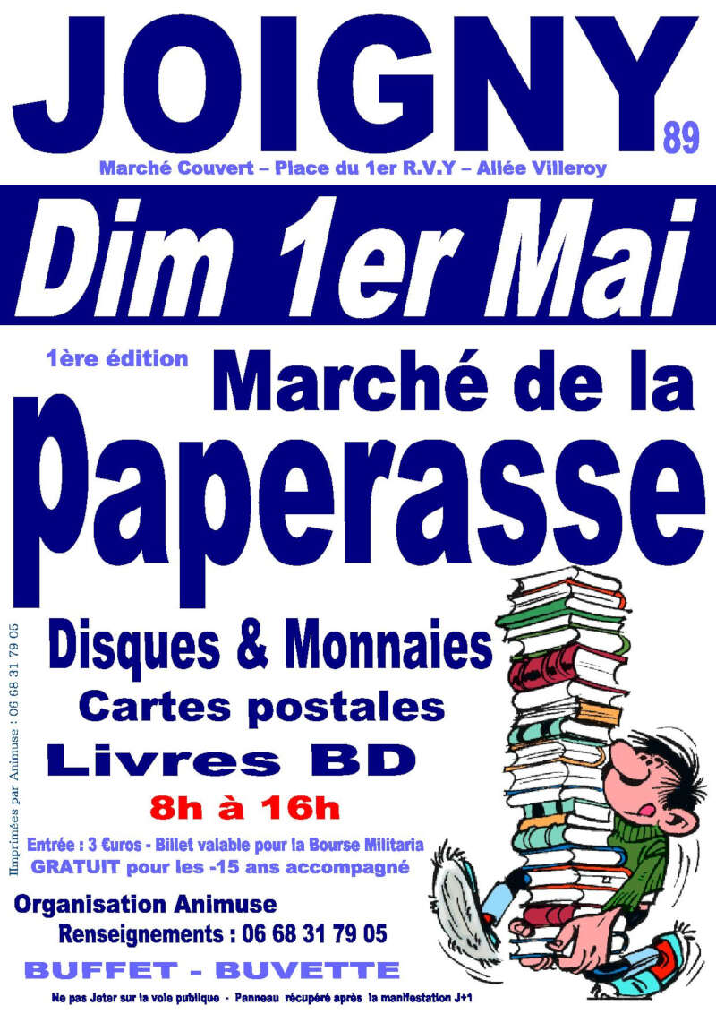 march u00e9 de la paperasse  u00e0 joigny salon de collectionneurs 89
