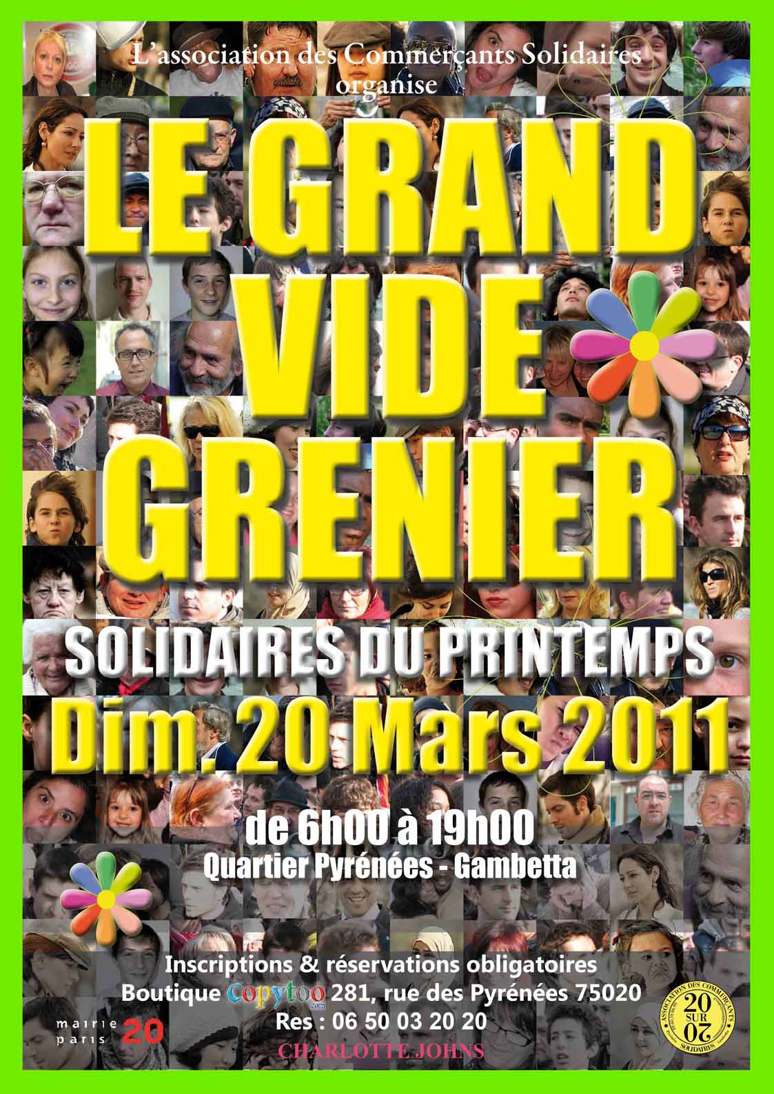 grand vide grenier solidaire du printemps paris vide. Black Bedroom Furniture Sets. Home Design Ideas