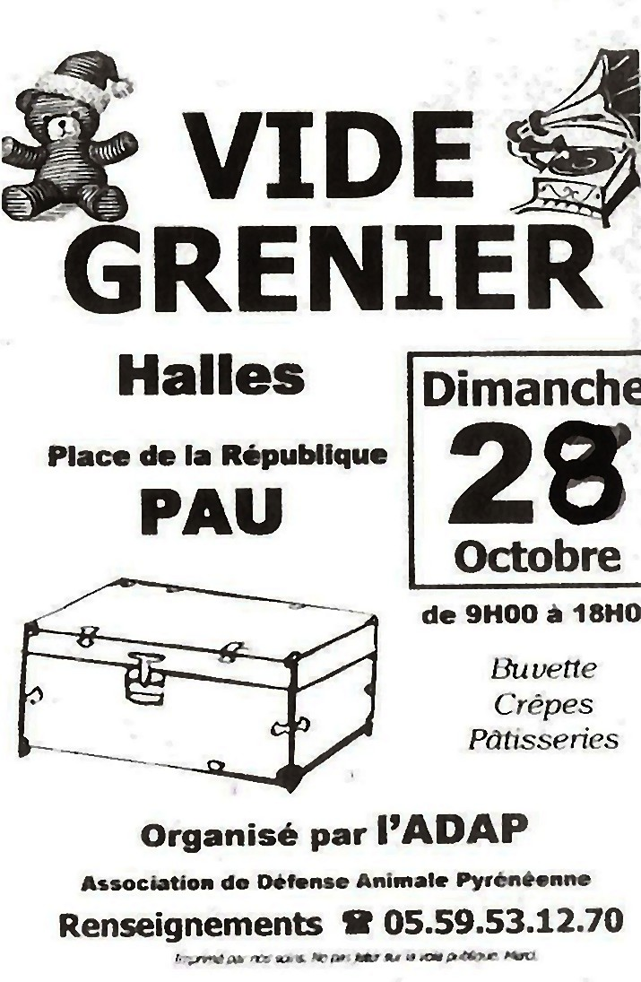 vide grenier 39 39 halles de pau 39 39 pau vide greniers 64. Black Bedroom Furniture Sets. Home Design Ideas