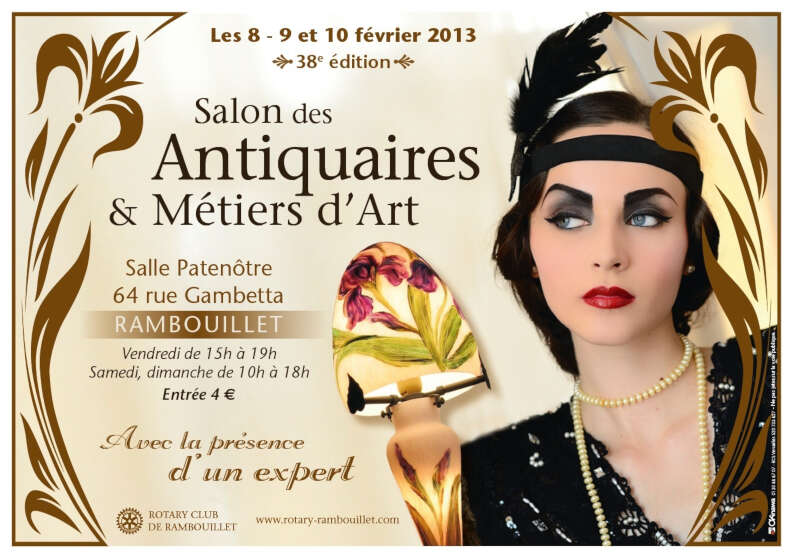 Salon des antiquaires metiers d 39 art rambouillet for Salon rambouillet