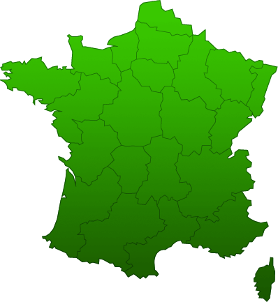 Carte de France des r�gions